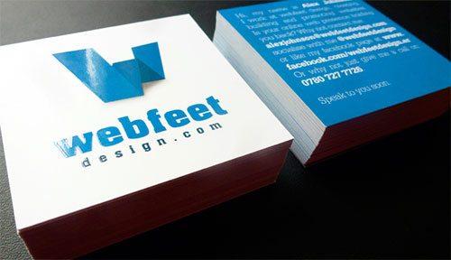 Webfeet Design Business Cards