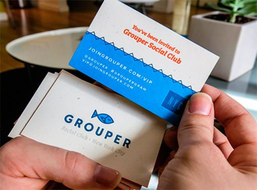 Grouper Business Card by Kyle Anthony Miller