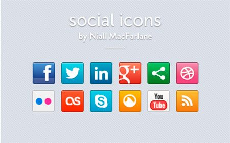 Social Icon Set by Niall MacFarlane