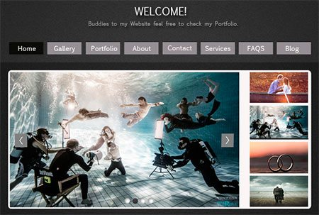 Web Layout for Photographers