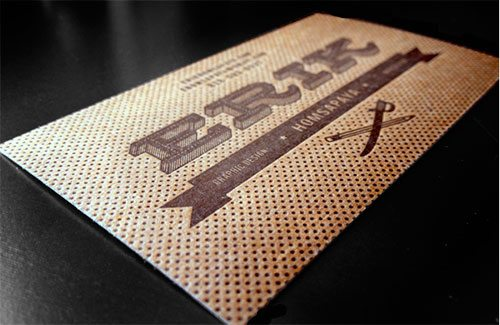 Letterpressed Chipboard Cards