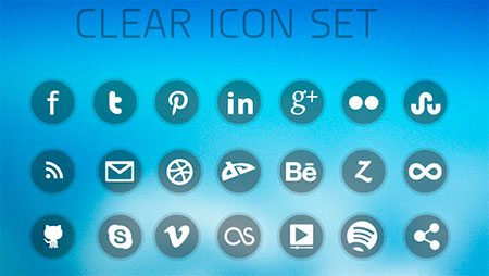 Clear Social Media Icons