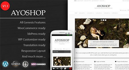 AyoShop – Responsive eCommerce Child Theme