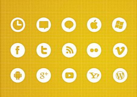 White Icons Set by AitThemes