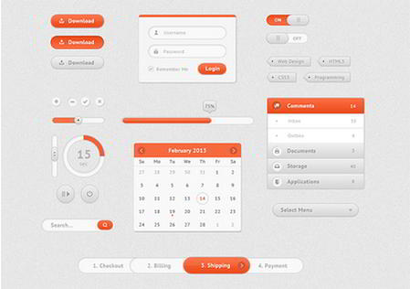 Cute UI Kit by Madalin Tudose