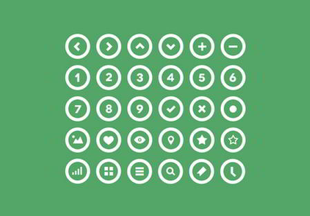 36 Circle Icons by Michael Reimer