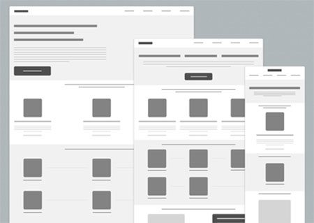 Wireframes for new website by CreativeDraft