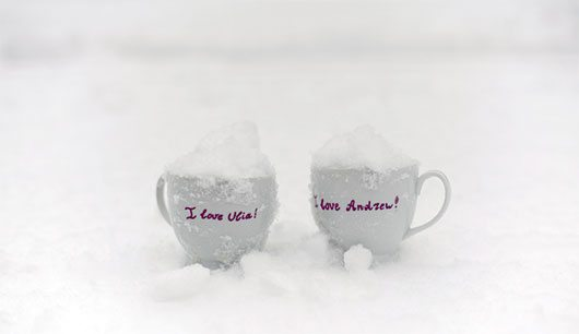 Snowy love cups by duskOFsummer