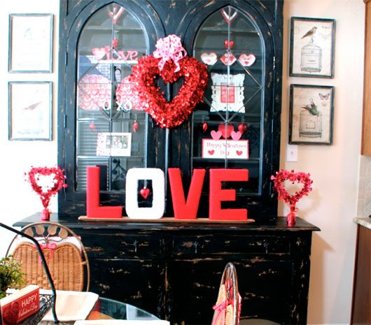 Beautiful Valentine's Day Hutch