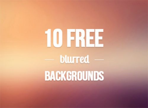 10 free blurred backgrounds by Monika Majkowska