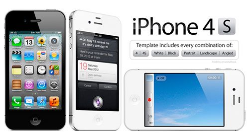 High Resolution iPhone 4/4S PSD Template