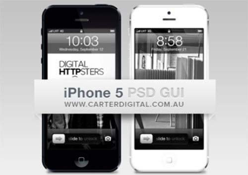 iPhone 5 GUI v2 by James Noble (Carter Digital)