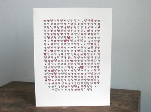 Valentine love note card