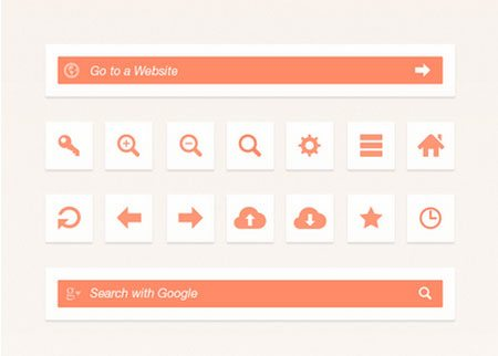 Web Browser UI Elements by Bluroon