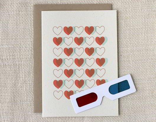 Valentine Card - 3D Hearts