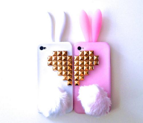 Best Friends Bunny Rabbit Heart Studded