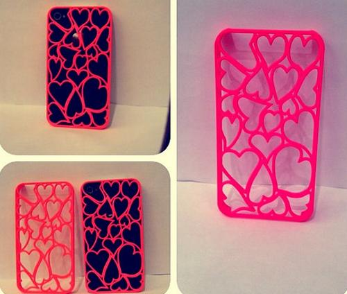 Crazy Hearts iPhone 4 Case