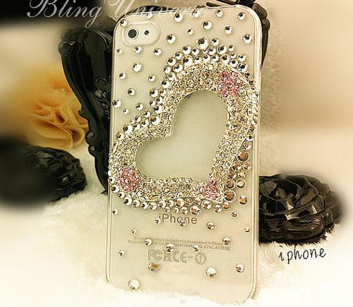 Hand-Made Diamond iPhone 4 4S case