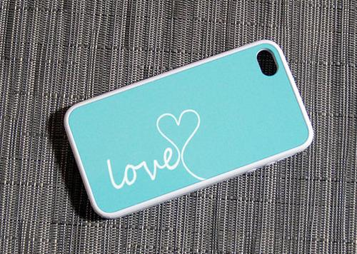 Tiffany Blue and White Love