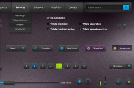 Dark Web UI Kit by Zoltan Mitlik