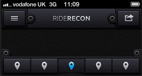 RideRecon UI by Adam Whitcroft