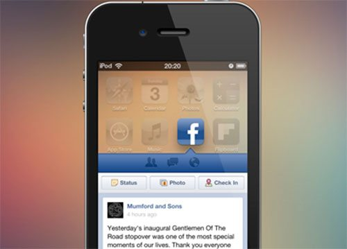 Facebook Widget Concept by Karl O'Brien