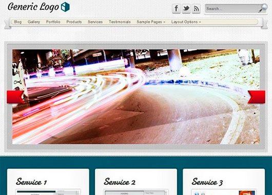 Landing WordPress theme