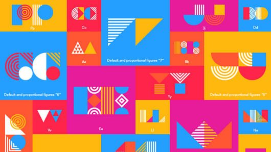 Pattern Typeface by Tamer Köşeli