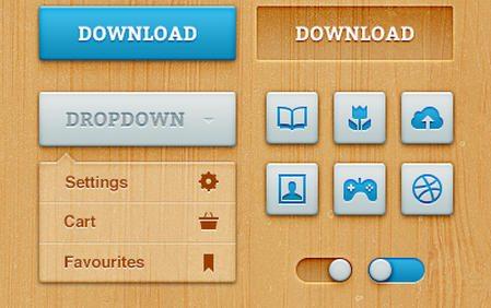 Bold Woody UI [Free .psd] by MediaLoot