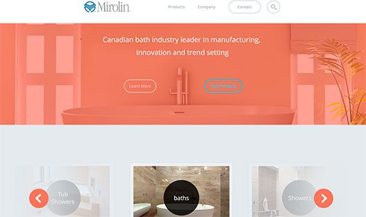 Mirolin Landing Page Concept by Mike Busby