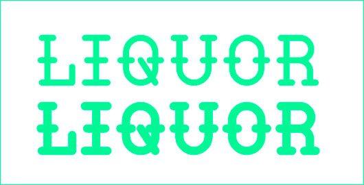Liquor Typeface by William Suckling