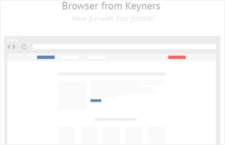 Browser freebie from keyners by Keyners