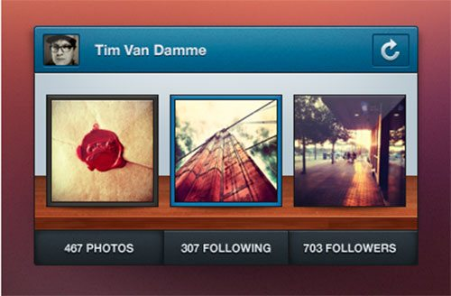 Instagram Mini Profile – PSD by Manu Gamero
