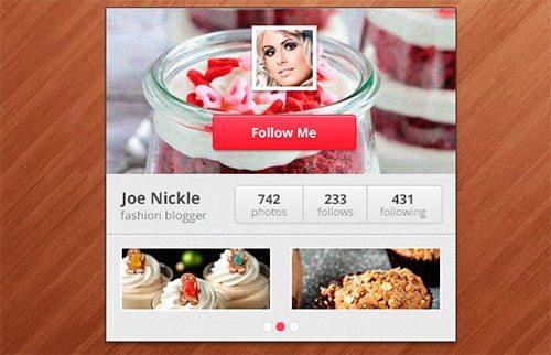 Create an Instagram Widget in Adobe Photoshop