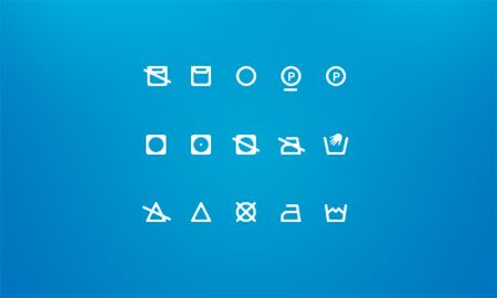 Washing Icons - Free icon set by Dominik Rezek