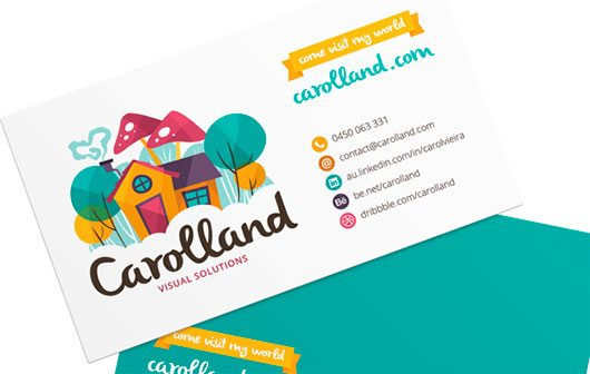 Carolland - Business Card by Carol Vieira