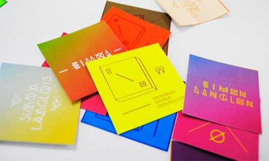 Business cards by Simon Langlois