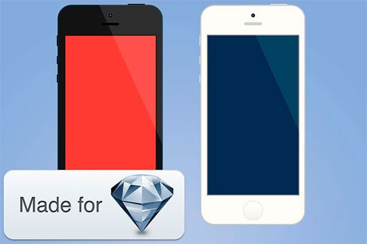 Minimalistic IPhone for Sketch by Pietro Schirano