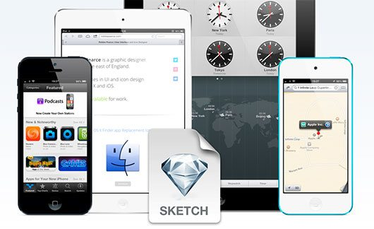 Fully Scaleable Apple iOS Devices for Sketch.app