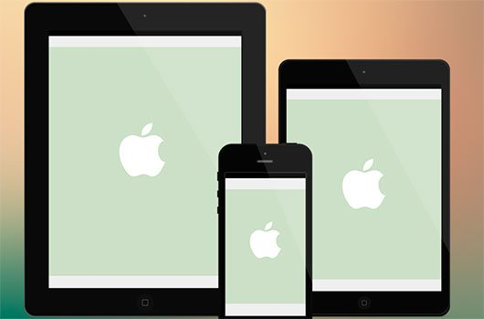 Minimalist iOS Devices - psds by Tim Green