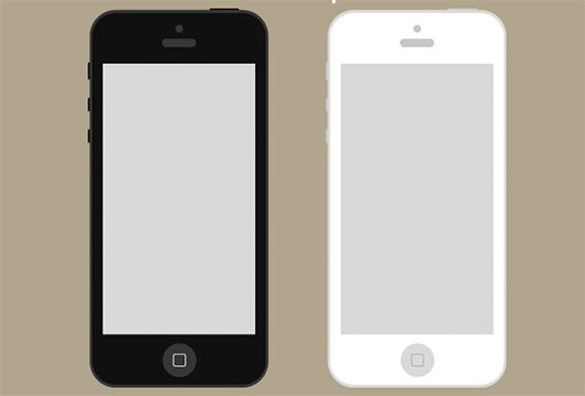 Flat iPhone Wireframe Freebie by Gavin Anthony