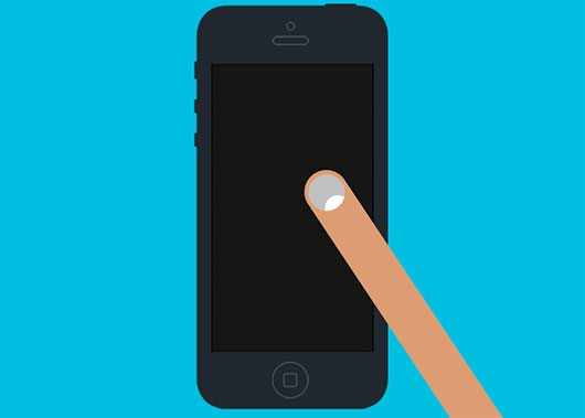 Flat iPhone5 Mockup (Black, White) by Dominik Martin