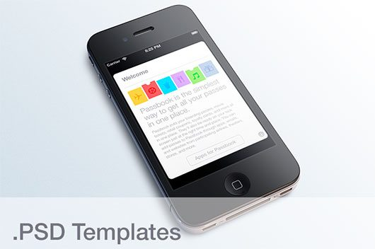 iPhone 4 PSD Templates by Nikh