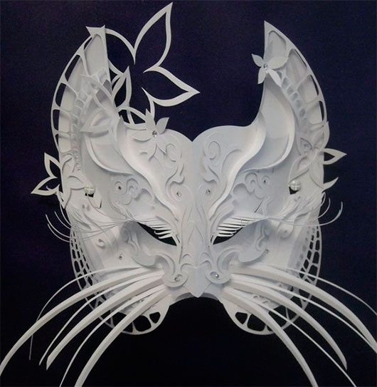 Mask from paper by Asya Kozina
