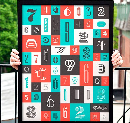 The Numbers Poster by 55 Hi's