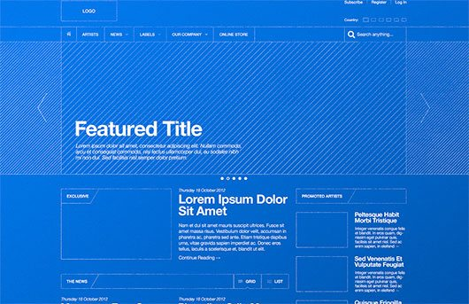 Blueprint / Wireframe by Derek Clark