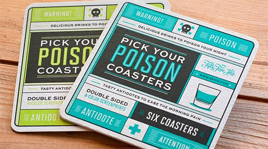 Pick Your Poison Coasters by 55 Hi's