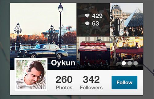 Instagram Mini Profile by Oykun