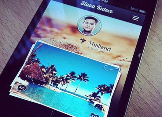 iPhone App interface by Andrianov Oleg