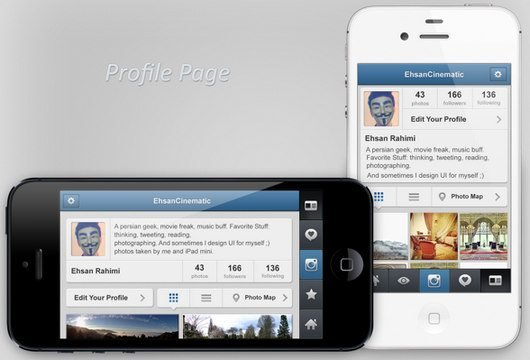 Instagram Concept: for Panorama photos by Ehsan Rahimi